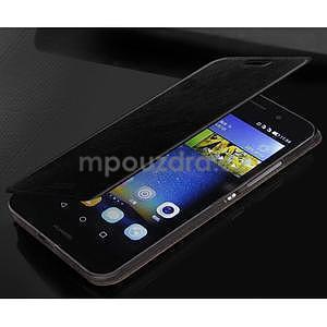 PU kožené pouzdro na Huawei P8 Lite - černé - 3