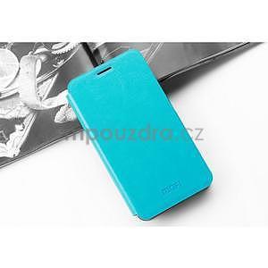 PU kožené pouzdro na Huawei P8 Lite - modré - 3