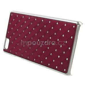 Drahokamový plastový obal na Huawei Ascend P8 Lite - červený - 3