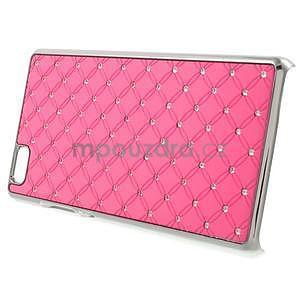 Drahokamový plastový obal na Huawei Ascend P8 Lite - růžový - 3
