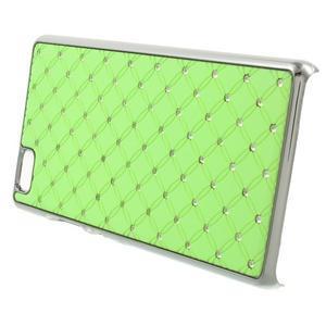 Drahokamový plastový obal na Huawei Ascend P8 Lite - zelený - 3