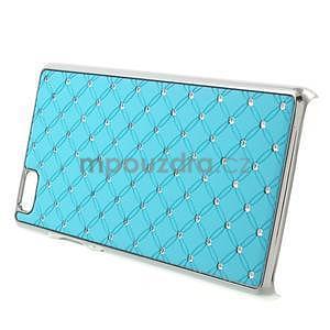 Drahokamový plastový obal na Huawei Ascend P8 Lite - světle modrý - 3