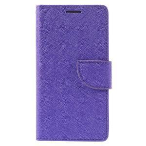 Crossy peněženkové pouzdro na Huawei P9 - fialové - 3