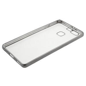 Stylový gelový obal s šedým lemem na Huawei P9 - 3