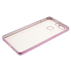 Stylový gelový obal s růžový lemem na Huawei P9 - 3