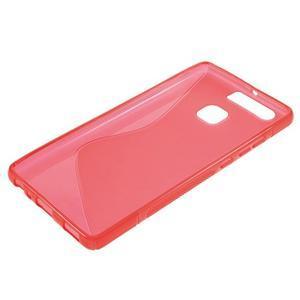 S-line gelový obal na mobil Huawei P9 - červený - 3