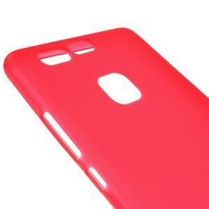 Trend matný gelový obal na mobil Huawei P9 - červený - 3