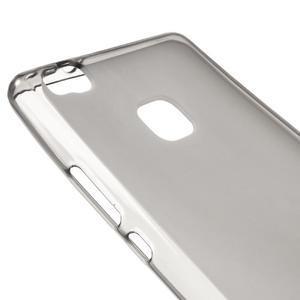 Matný gelový obal na mobil Huawei P9 lite - šedý - 3