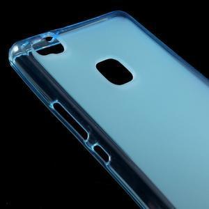 Matný gelový obal na mobil Huawei P9 lite - modrý - 3