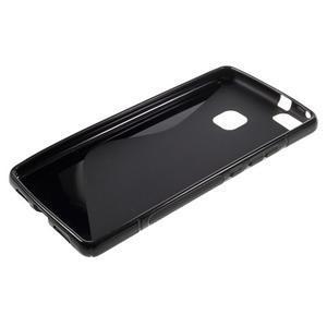 S-line gelový obal na mobil Huawei P9 Lite - černý - 3