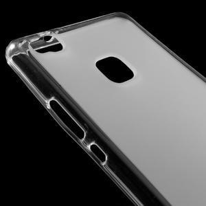 Matný gelový obal na mobil Huawei P9 lite - transparentní - 3