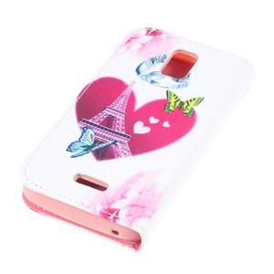 Peněženkové pouzdro na mobil Huawei Y3 a Y360 - srdce - 3