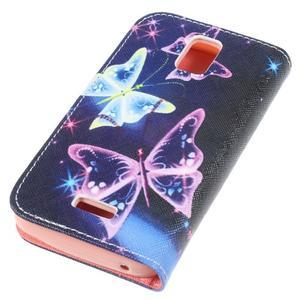 Peněženkové pouzdro na mobil Huawei Y3 a Y360 - kouzelní motýlci - 3
