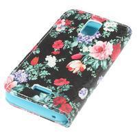 Peněženkové pouzdro na mobil Huawei Y3 a Y360 - květiny - 3/7