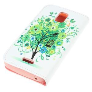 Peněženkové pouzdro na mobil Huawei Y3 a Y360 - zelený strom - 3