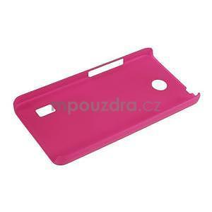 Rose pogumovaný plastový kryt na Huawei Y635 - 3