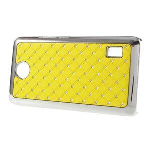 Drahokamový plastový kryt na Huawei Y635 - žlutý - 3