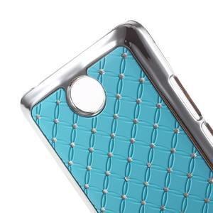 Drahokamový plastový kryt na Huawei Y635 - světle modrý - 3
