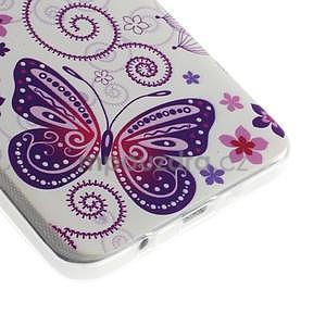 Gelový obal na Samsung Galaxy A3 - motýl a kruhy - 3