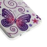 Gelový obal na Samsung Galaxy A3 - motýl a kruhy - 3/6
