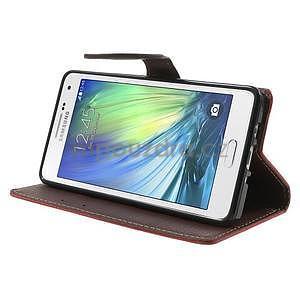Červené/hnědé PU kožené pouzdro na Samsung Galaxy A5 - 3