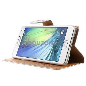 Peněženkové zapínací pouzdro na Samsung Galaxy A5 - růže elegant - 3
