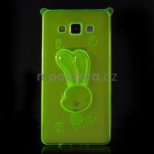 Zelený gelový obal s nastavitelným stojánkem na Samsung Galaxy A5 - 3