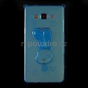 Modrý gelový obal s nastavitelným stojánkem na Samsung Galaxy A5 - 3