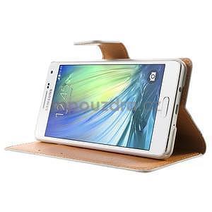 Peněženkové zapínací pouzdro na Samsung Galaxy A5 - barevné květiny - 3
