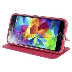 Rose zapínací pouzdro na Samsung Galaxy S5 mini - 3