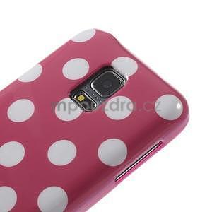 Rose puntíkatý gelový obal na Samsung Galaxy S5 mini - 3