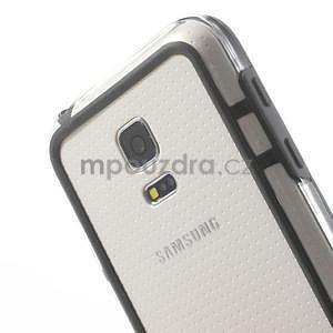 Černý gelový kryt s plastovými lemy na Samsung Galaxy S5 mini - 3