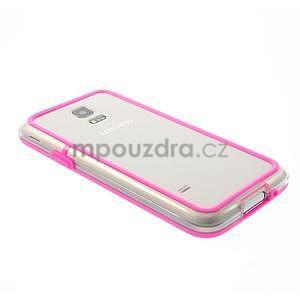 Rose gelový kryt s plastovými lemy na Samsung Galaxy S5 mini - 3