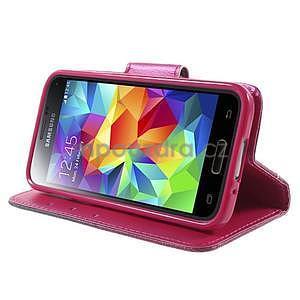 Zapínací peněženkové pouzdro na Samsung Galaxy S5 mini - květinové srdce - 3