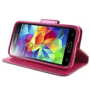 Zapínací peněženkové pouzdro na Samsung Galaxy S5 mini - srdce - 3