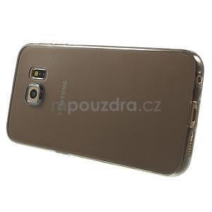 Ultra tenký gelový obal na Samsung Galaxy S6 Edge - šedý - 3