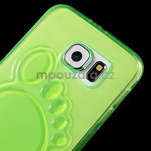 Protiskluzový gelový kryt na Samsung Galaxy S6 - zelený - 3