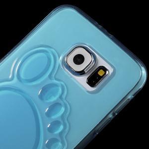 Protiskluzový gelový kryt na Samsung Galaxy S6 - modrý - 3