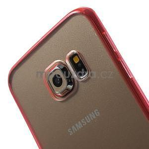 Rose hybridní gelový obal na Samsung Galaxy S6 Edge - 3