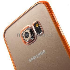 Oranžový hybridní gelový obal na Samsung Galaxy S6 Edge - 3
