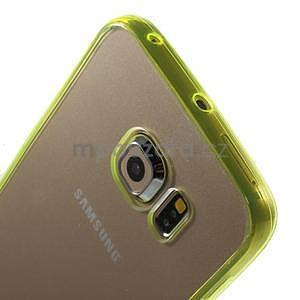 Světle žlutý hybridní gelový obal na Samsung Galaxy S6 Edge - 3