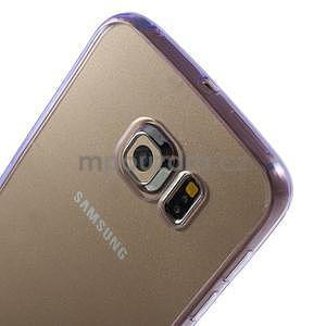 Fialový hybridní gelový obal na Samsung Galaxy S6 Edge - 3