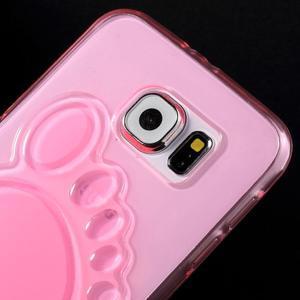 Protiskluzový gelový kryt na Samsung Galaxy S6 - rose - 3