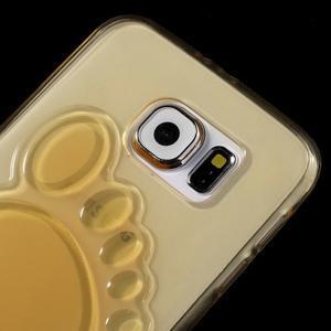 Protiskluzový gelový kryt na Samsung Galaxy S6 - zlatý - 3