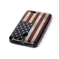 Jelly gelový obal na Lenovo A319 - US vlajka - 3/3