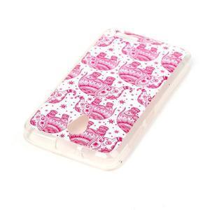 Softy gelový obal na mobil Lenovo A319 - růžoví sloni - 3