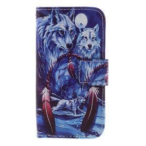 Styles peněženkové pouzdro na mobil Lenovo A319 - vlci - 3
