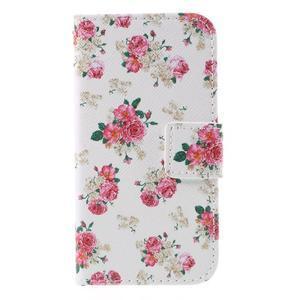 Styles peněženkové pouzdro na mobil Lenovo A319 - květiny - 3