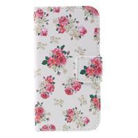 Styles peněženkové pouzdro na mobil Lenovo A319 - květiny - 3/7