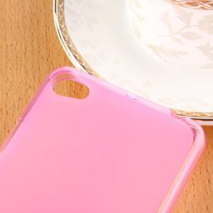 Matný gelový obal na mobil Lenovo S60 - růžový - 3